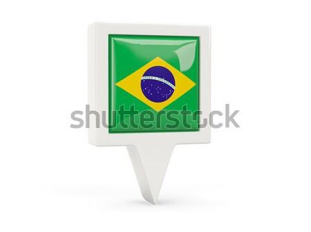 広場 金属 ボタン フラグ ブラジル 孤立した ストックフォト © MikhailMishchenko