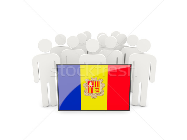 People with flag of andorra Stock photo © MikhailMishchenko