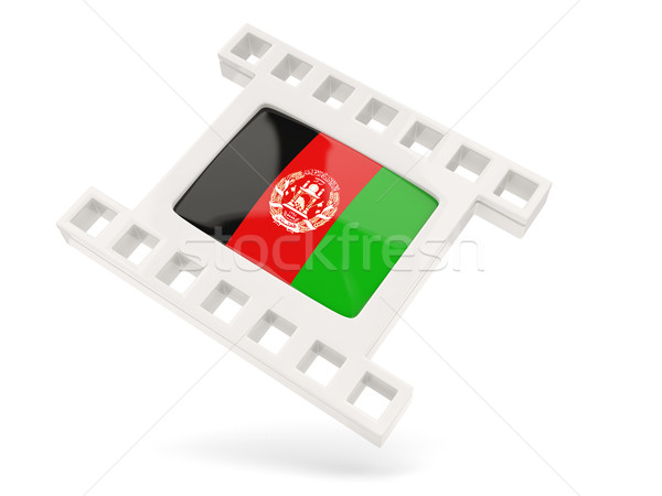 Filme ícone bandeira Afeganistão isolado branco Foto stock © MikhailMishchenko