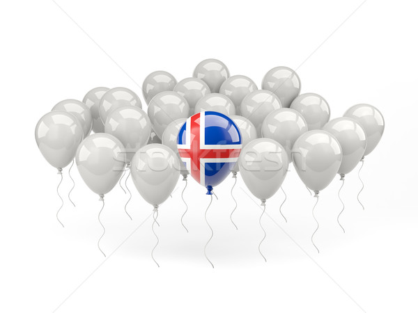 Air balloons with flag of iceland Stock photo © MikhailMishchenko
