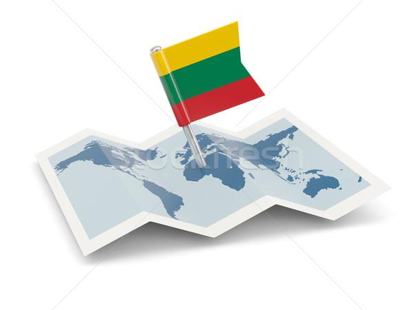 地図 フラグ リトアニア 孤立した 白 ストックフォト © MikhailMishchenko
