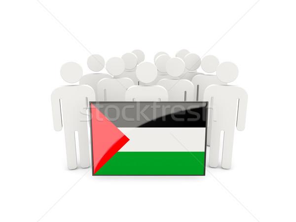 Persone bandiera territorio isolato bianco folla Foto d'archivio © MikhailMishchenko