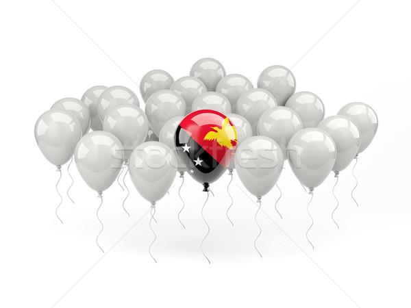 Air balloons with flag of papua new guinea Stock photo © MikhailMishchenko
