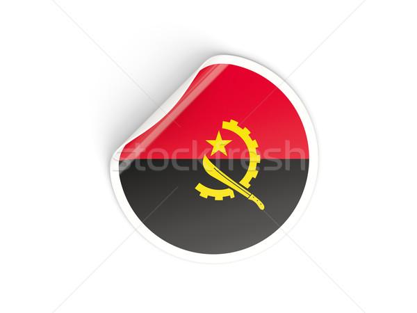 наклейку флаг Ангола изолированный белый путешествия Сток-фото © MikhailMishchenko