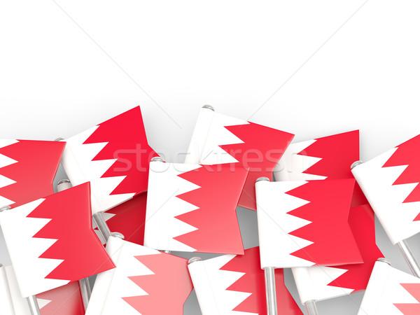 Bandeira pin Bahrein isolado branco fundo Foto stock © MikhailMishchenko