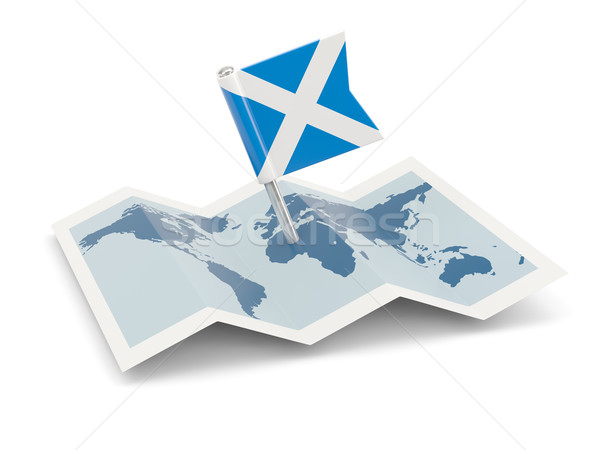 Map with flag of scotland Stock photo © MikhailMishchenko