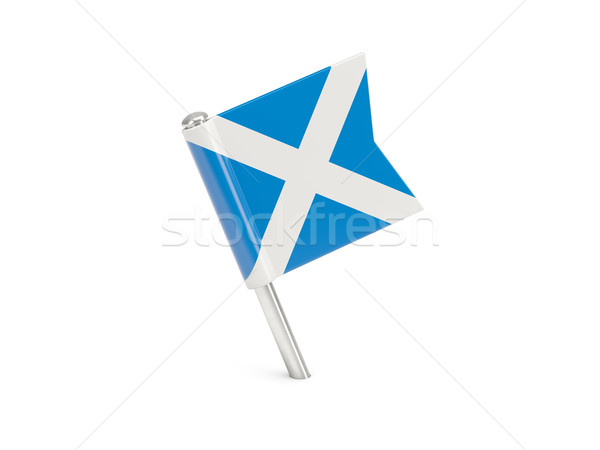Flag pin of scotland Stock photo © MikhailMishchenko