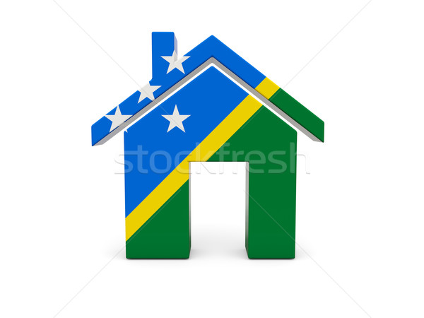 Home with flag of solomon islands Stock photo © MikhailMishchenko