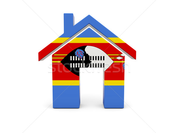 Home with flag of swaziland Stock photo © MikhailMishchenko