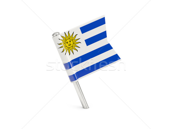 Zászló tő Uruguay izolált fehér utazás Stock fotó © MikhailMishchenko