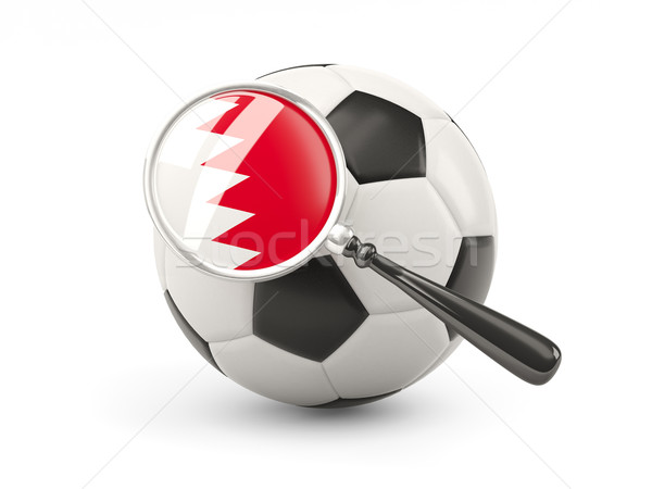 Football with magnified flag of bahrain Stock photo © MikhailMishchenko