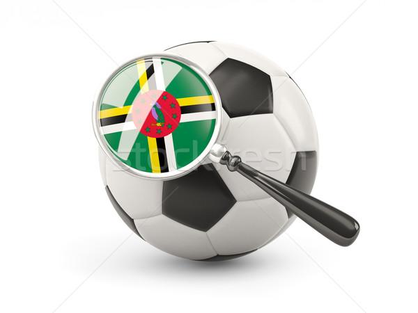 футбола флаг Доминика изолированный белый Сток-фото © MikhailMishchenko