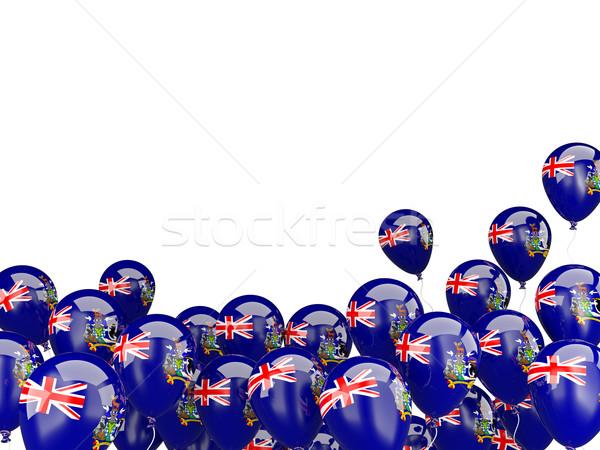 Repülés léggömbök zászló dél Grúzia szendvics Stock fotó © MikhailMishchenko