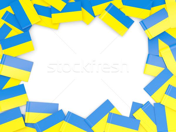 フレーム フラグ ウクライナ 孤立した 白 ストックフォト © MikhailMishchenko