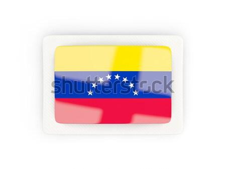 Square icon with flag of venezuela Stock photo © MikhailMishchenko