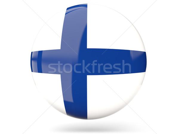 Icono bandera Finlandia signo blanco Foto stock © MikhailMishchenko
