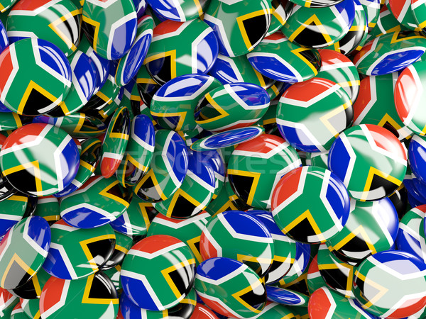 Background with round pins with flag of south africa Stock photo © MikhailMishchenko