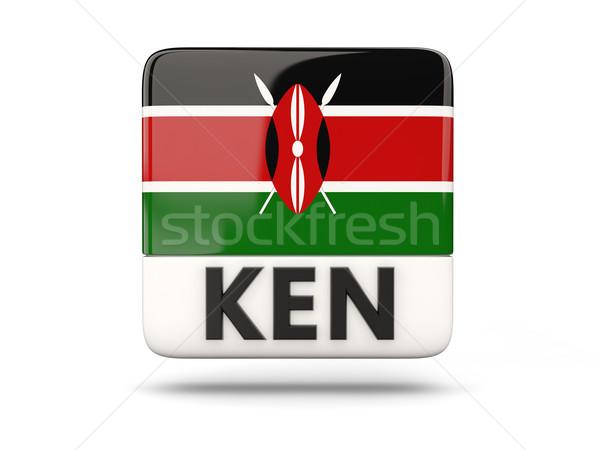 Placu ikona banderą Kenia iso kodu Zdjęcia stock © MikhailMishchenko
