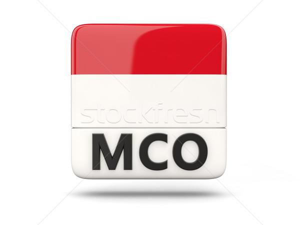 Carré icône pavillon Monaco iso code Photo stock © MikhailMishchenko