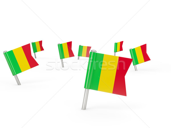 Square pins with flag of mali Stock photo © MikhailMishchenko