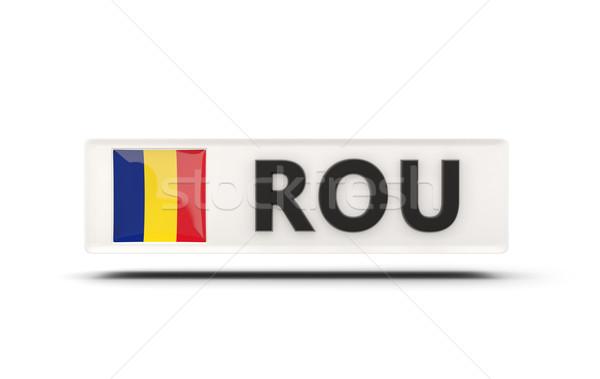 Cuadrados icono bandera Rumania iso código Foto stock © MikhailMishchenko