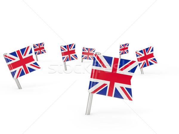 Kare bayrak Büyük Britanya yalıtılmış beyaz ülke Stok fotoğraf © MikhailMishchenko
