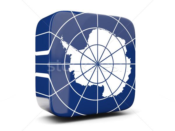 広場 アイコン フラグ 3次元の図 孤立した 白 ストックフォト © MikhailMishchenko