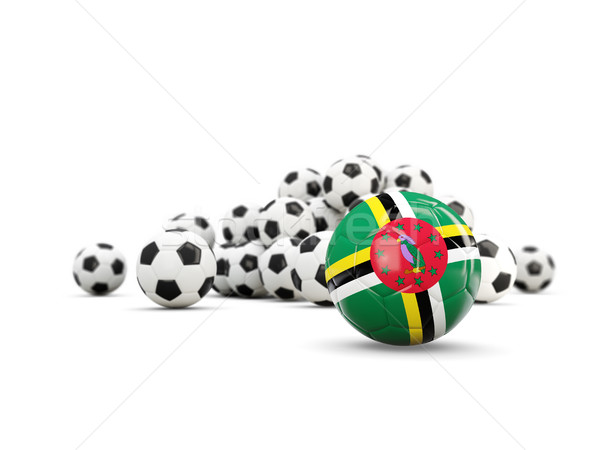 Voetbal vlag geïsoleerd witte 3d illustration sport Stockfoto © MikhailMishchenko