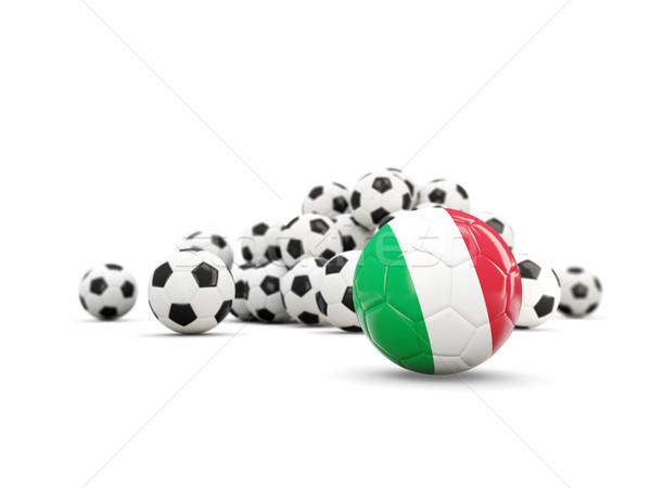 Stok fotoğraf: Futbol · bayrak · yalıtılmış · beyaz · 3d · illustration · futbol