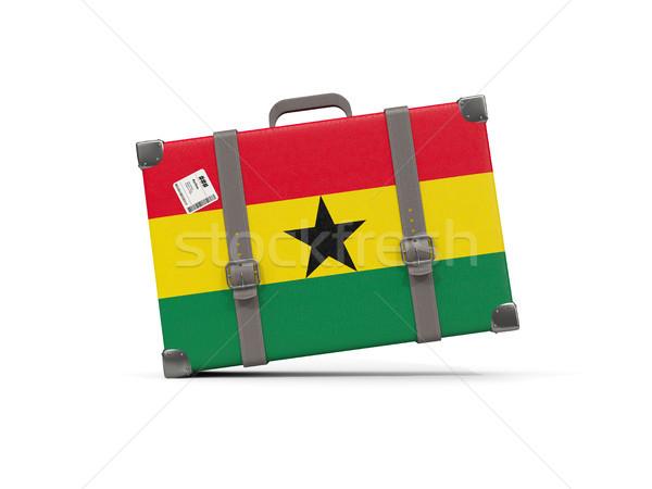 Luggage with flag of ghana. Suitcase isolated on white Stock photo © MikhailMishchenko