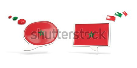 Two chat icons with flag of morocco Stock photo © MikhailMishchenko