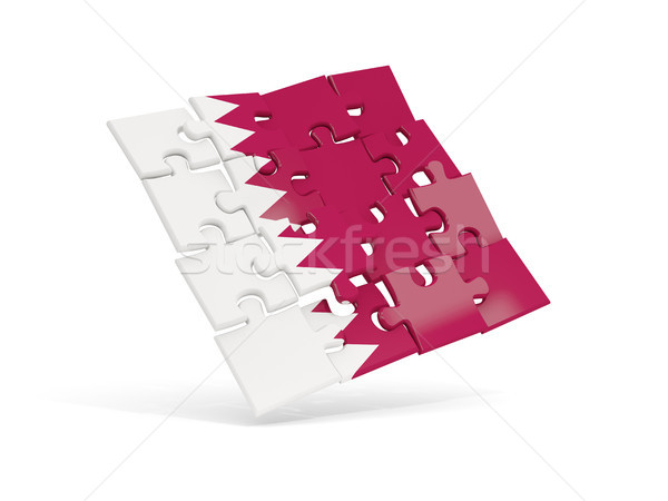 Puzzle pavillon Qatar isolé blanche 3d illustration Photo stock © MikhailMishchenko