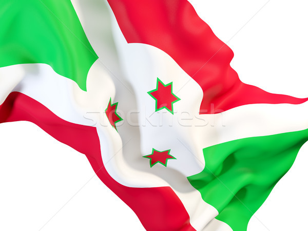 Bandeira Burundi ilustração 3d viajar Foto stock © MikhailMishchenko