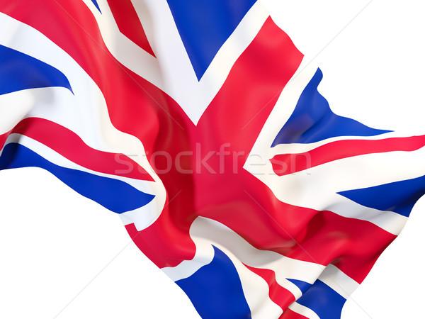 Bayrak Büyük Britanya 3d illustration kumaş Stok fotoğraf © MikhailMishchenko