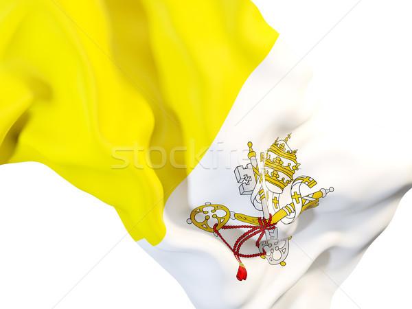 флаг Ватикан 3d иллюстрации путешествия Сток-фото © MikhailMishchenko