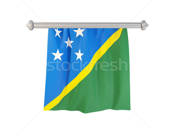 Pennant with flag of solomon islands Stock photo © MikhailMishchenko