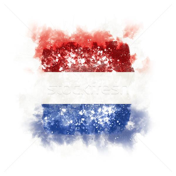 Platz Grunge Flagge Niederlande 3D-Darstellung Jahrgang Stock foto © MikhailMishchenko