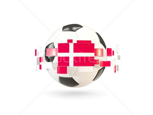 Futballabda vonal zászlók zászló Dánia lebeg Stock fotó © MikhailMishchenko