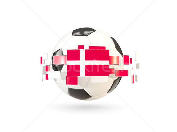 Voetbal lijn vlaggen vlag Denemarken Stockfoto © MikhailMishchenko