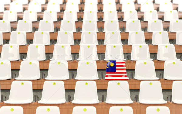 Estádio assento bandeira Malásia branco Foto stock © MikhailMishchenko