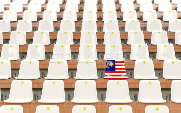Stadium seat with flag of malaysia Stock photo © MikhailMishchenko