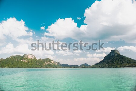 Cyan mer ciel bleu nuages marin Photo stock © MikhailMishchenko
