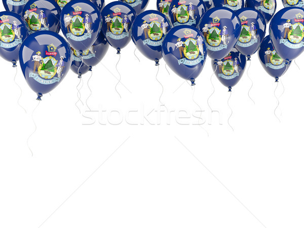 Ballonnen frame vlag Maine Verenigde Staten lokaal Stockfoto © MikhailMishchenko