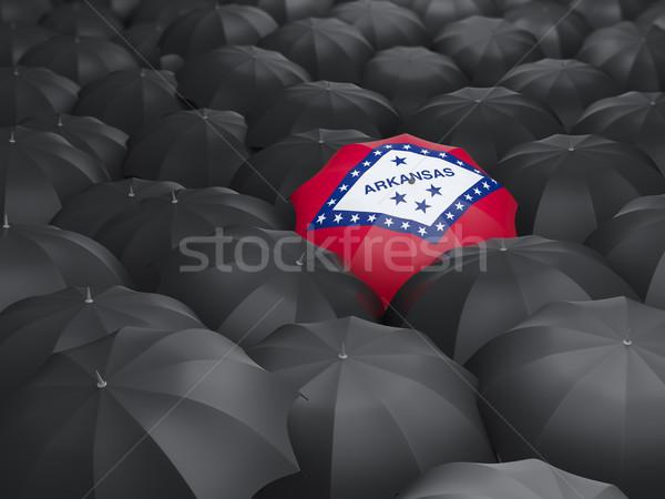 Arkansas zászló esernyő Egyesült Államok helyi zászlók Stock fotó © MikhailMishchenko