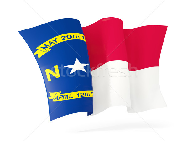 North Carolina vlag icon Verenigde Staten Stockfoto © MikhailMishchenko