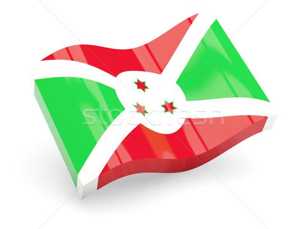 3D bandeira Burundi isolado branco viajar Foto stock © MikhailMishchenko