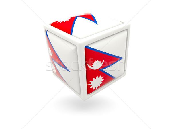флаг Непал куб икона изолированный белый Сток-фото © MikhailMishchenko