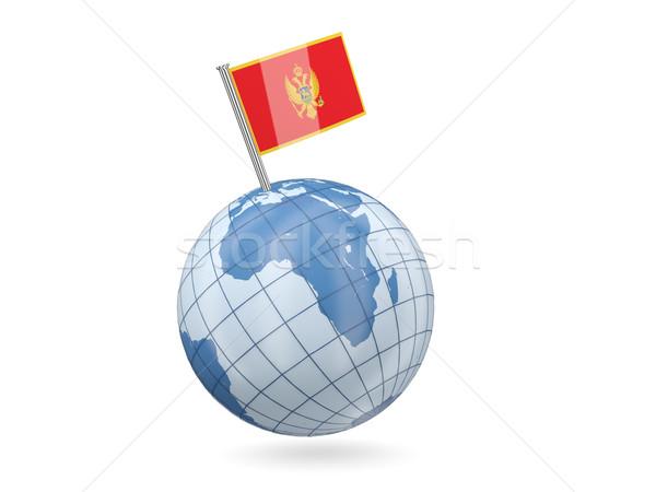 Globe with flag of montenegro Stock photo © MikhailMishchenko