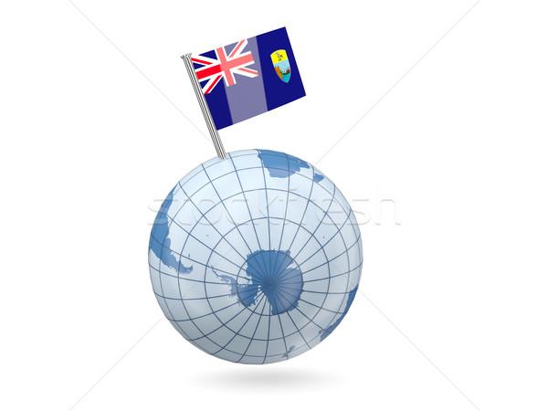 Stok fotoğraf: Dünya · bayrak · aziz · mavi · yalıtılmış · beyaz
