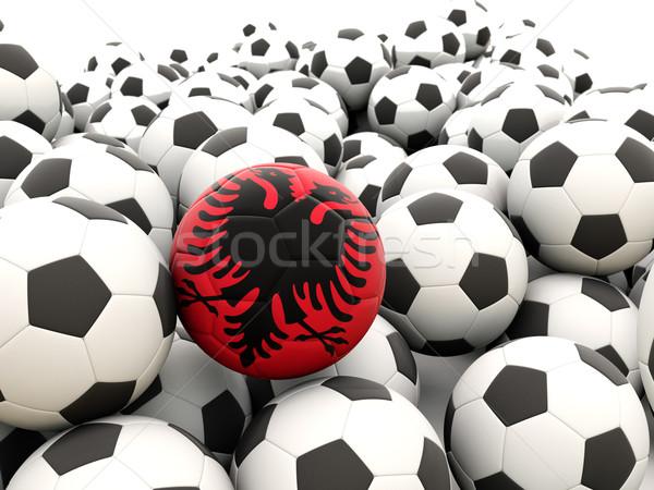 Futebol bandeira Albânia regular verão Foto stock © MikhailMishchenko